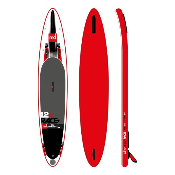 Red Paddle Co 2016 Race inflatable 12-6 paddle board