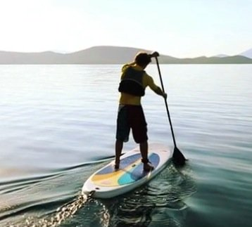 basic paddling tutorial on inflatable stand up paddle board