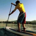 improved paddling technique on stand up paddle board