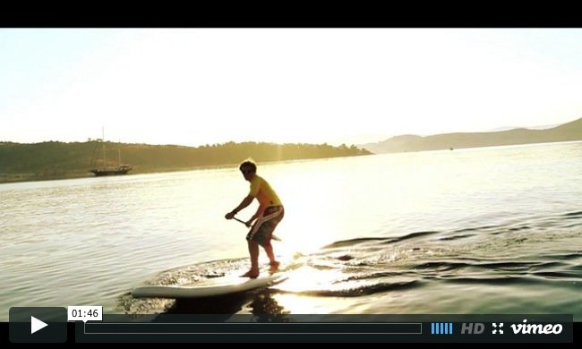 How to stand up paddle board step turn