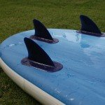 fins on inflatable paddle board