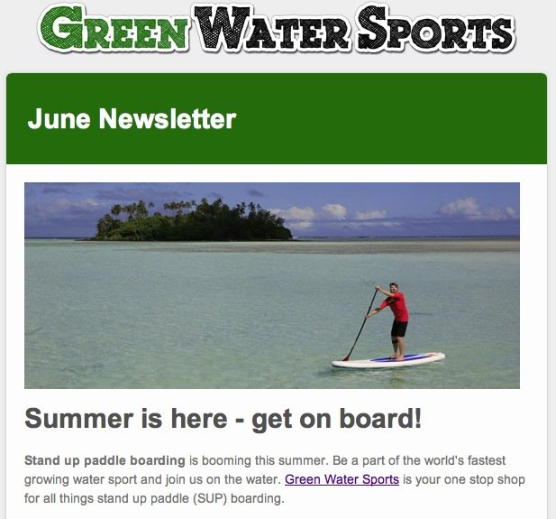 inflatable stand up paddle boarding newsletter