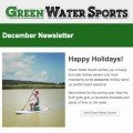 Green Water Sports inflatable SUP December newsletter