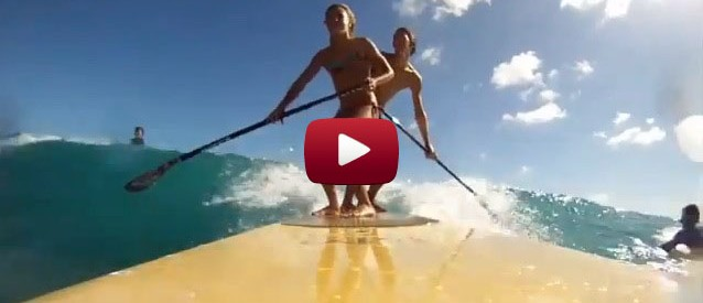 stand up paddle boarding with Red paddle co sup