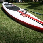 Red Paddle Co racing inflatable SUP