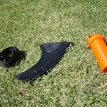 Strap US fin and reapir kit from bag