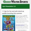 green water sports inflatable sup newsletter