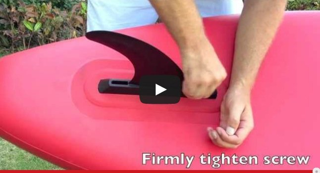 how to install your SUP fin
