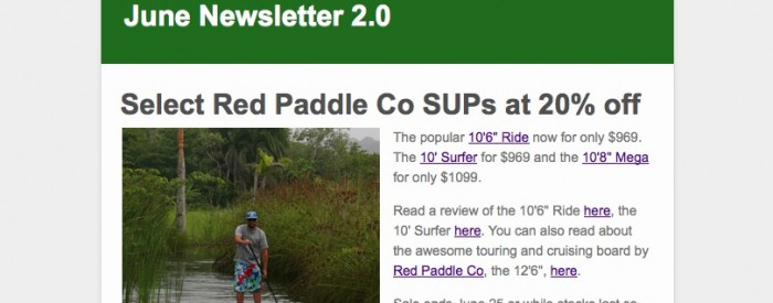 2014 Red Paddle Co inflatable SUPs