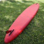 Race fin on 2015 Red Paddle Co Elite Air SUP