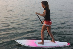 offset stance on your stand up paddle board