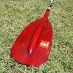 red paddle blade sup