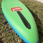 red paddle co nose runner fin on explorer 13 2 plus