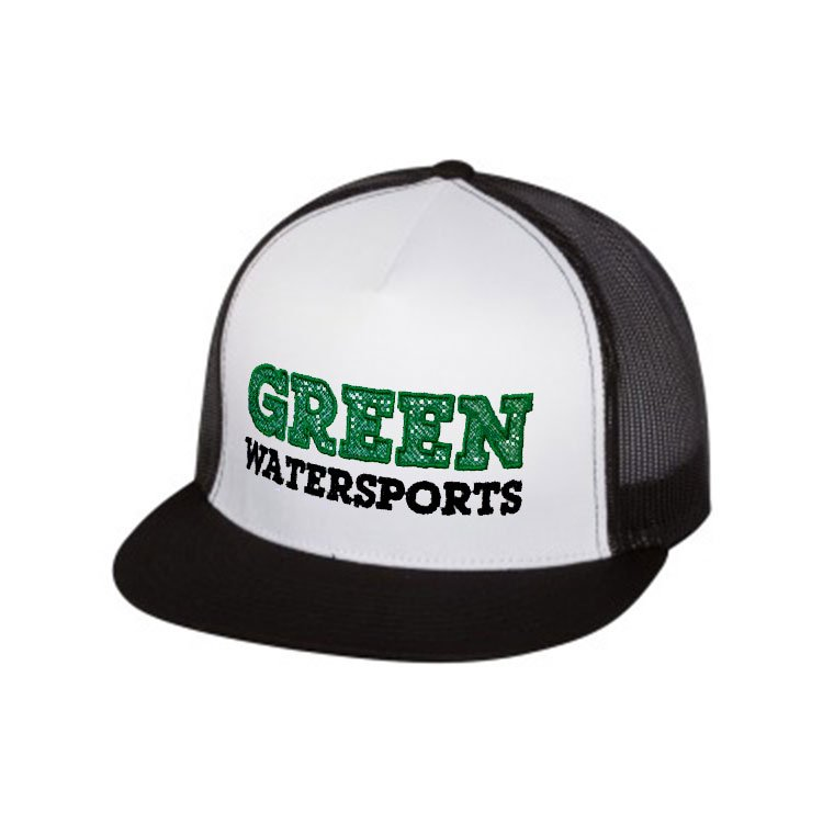 green water sports trucker cap snap back hat