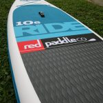 7 red air sup 10 6 inflatable paddle board EVA deck