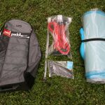 Carry bag back pack with pump and rss battens and fin
