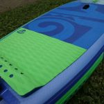 EVA deck pad and diamond cut tail pad on 2017 10 ft whopper zen inflatable sup paddle board
