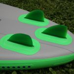 starboard sup fins on inflatable whopper zen