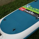 deck pad on inflatable touring paddle board red paddle co