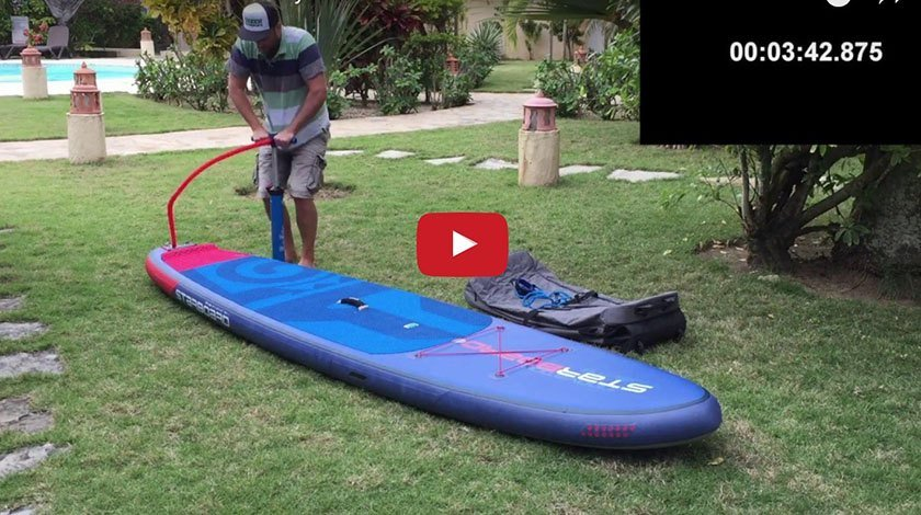 how to inflate your inflatable paddle board sup