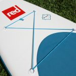 cargo area red paddle inflatable sup