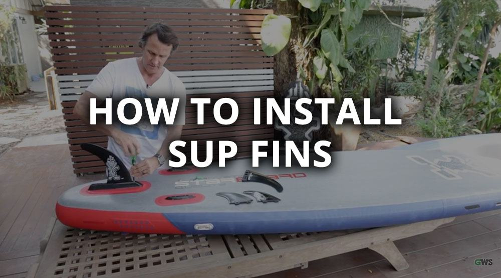 how to install sup fins