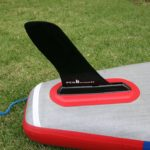 fcs fin on starboard touring paddle board 12 6 sup
