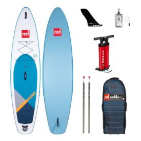 2020 red paddle co 11-3 sport best cross over all round touring inflatable sup paddle board green water sports
