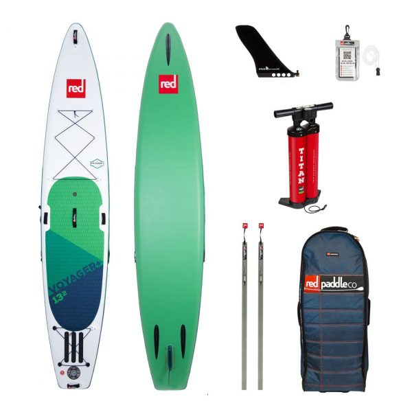 2020 red paddle co 13-2 voyager plus best glide touring inflatable sup paddle board green water sports