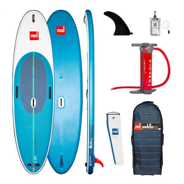 2021 red paddle co 10 7 windsurf inflatable sup paddle board best windsurfing isup green water sports
