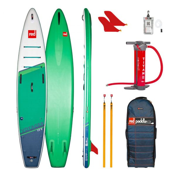 2021 red paddle co 13 2 voyager plus touring adventure inflatable sup best paddle baord green water sports