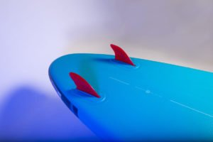 twin fins on 2021 red paddle co ride 9 8 inflatable all round sup green water sports